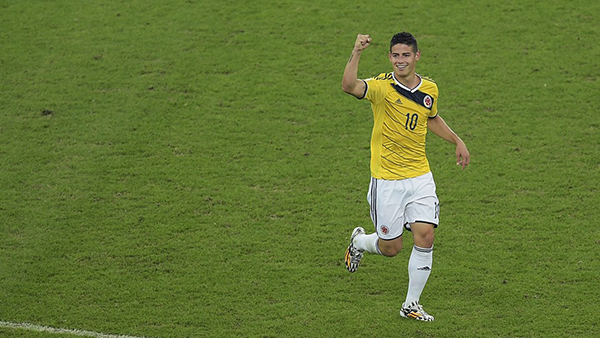 James Rodriguez alla Coppa del Mondo 2014