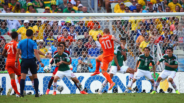 Olanda-Messico alla Coppa del Mondo 2014