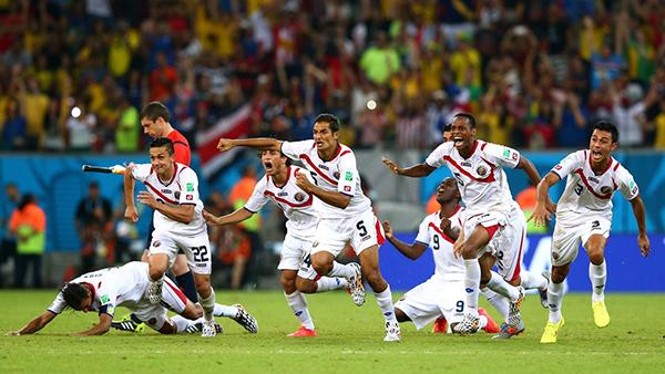 La Costa Rica festeggia alla Coppa del Mondo 2014