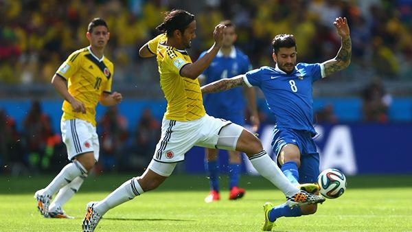Colombia-Grecia alla Coppa del Mondo 2014