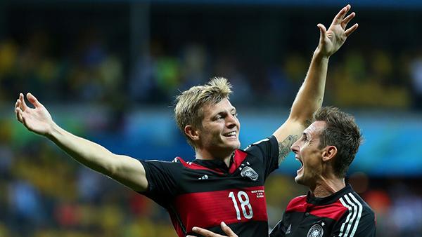 Kroos e Klose alla Coppa del Mondo 2014