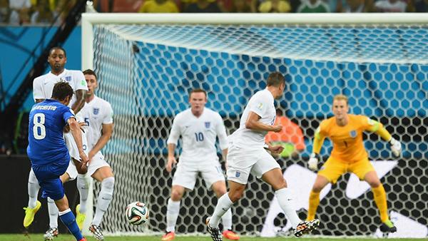 Il gol di Marchisio all'Inghilterra alla Coppa del Mondo 2014