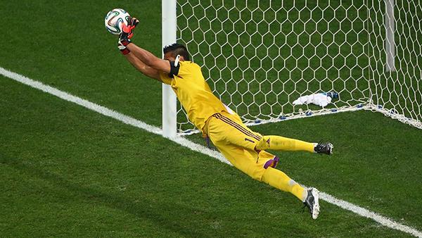 Sergio Romero alla Coppa del Mondo 2014