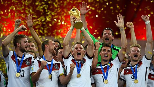 La Germania campione del mondo 2014