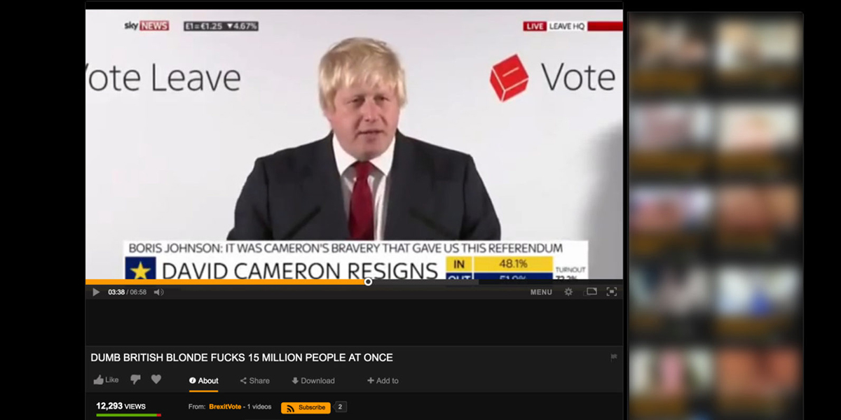 Boris Johnson su PornHub