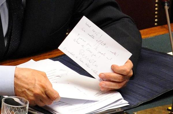 Il biglietto di Brunetta a Berlusconi