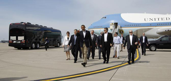 Il Bus One e l'Air Force One