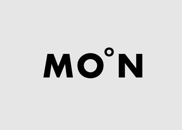 Calligramma della parola Moon