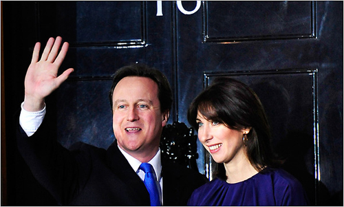 David Cameron neo primo ministro del Regno Unito