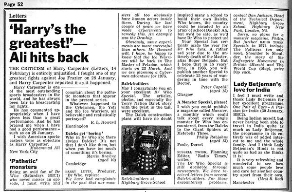 La lettera scritta da Peter Capaldi al Doctor Who