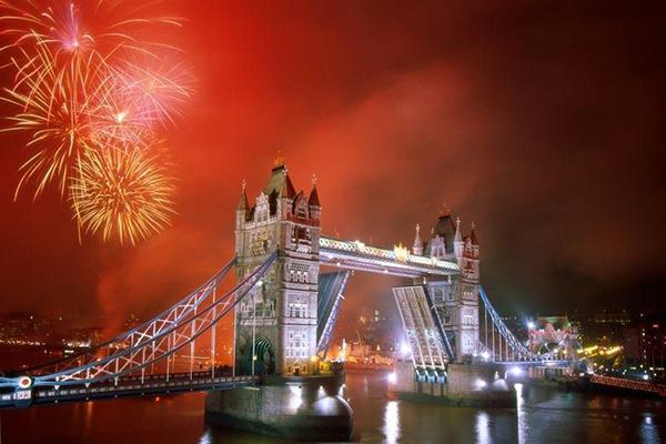 L'arrivo del 2013 a Londra
