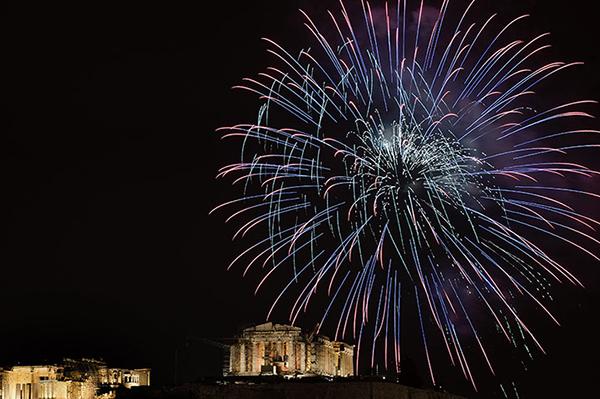 L'arrivo del 2013 ad Atene