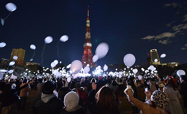 L'arrivo del 2013 a Tokyo