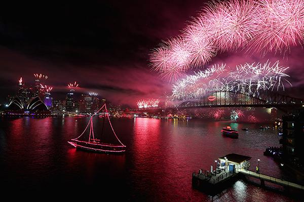 L'arrivo del 2013 a Sydney