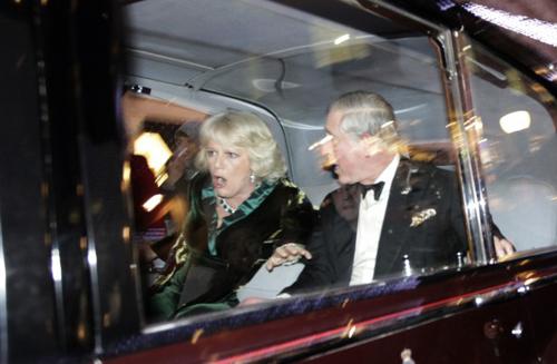 L'auto reale di Carlo assaltata dai manifestanti