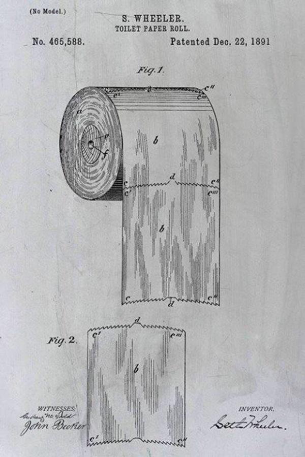 Brevetto della carta igienica