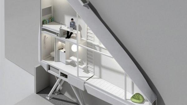 Il rendering della casa più sottile al mondo