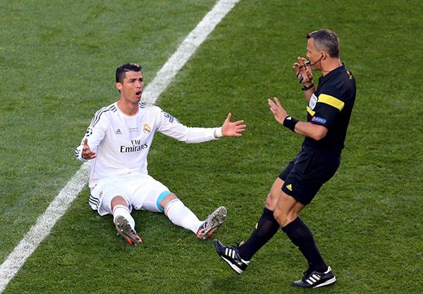 Cristiano Ronaldo nella finale di Champions 2014