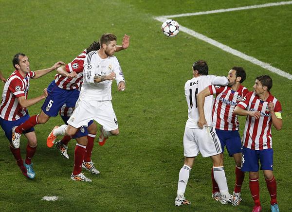 Ramos nella finale di Champions 2014