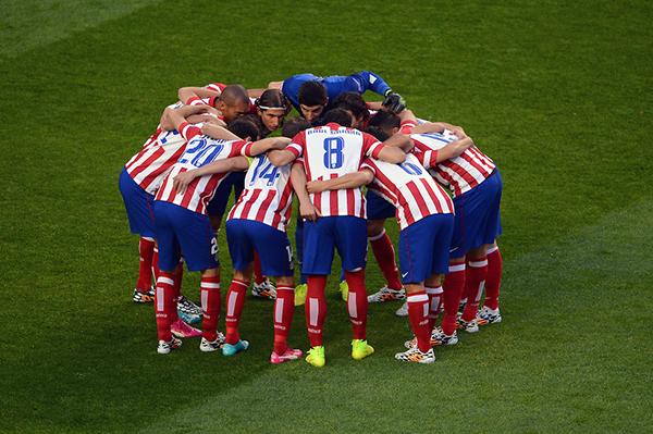 L'Atletico Madrid nella finale di Champions 2014