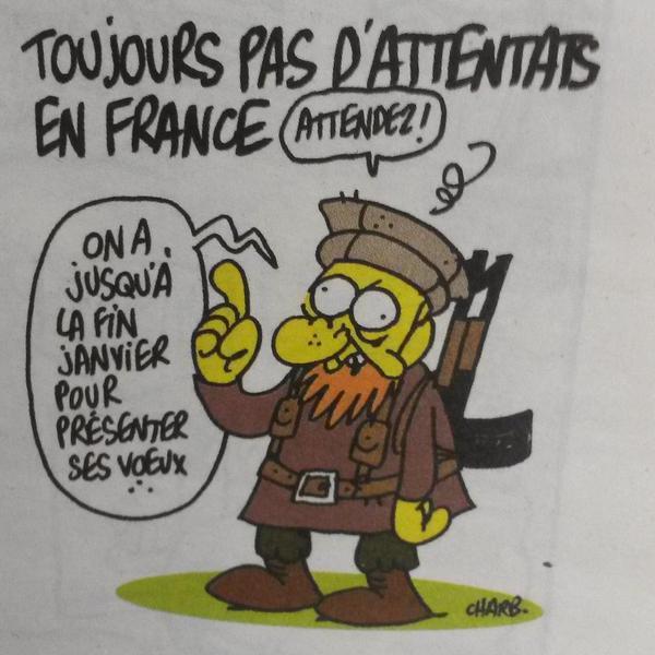 L'ultima vignetta di Charlie Hebdo prima della strage