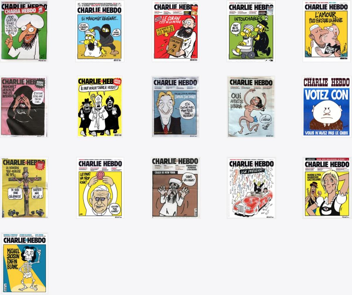 Le 16 vignette più pungenti di Charlie Hebdo