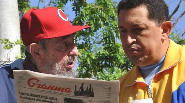 Chavez ricompare al fianco di Fidel Castro