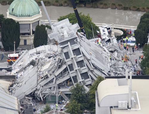 La devastazione del terremoto che ha colpito Christchurch