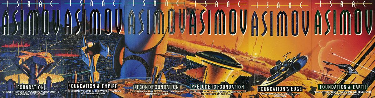 Le copertine del Ciclo delle Fondazioni di Asimov, illustrate da Fred Gambino