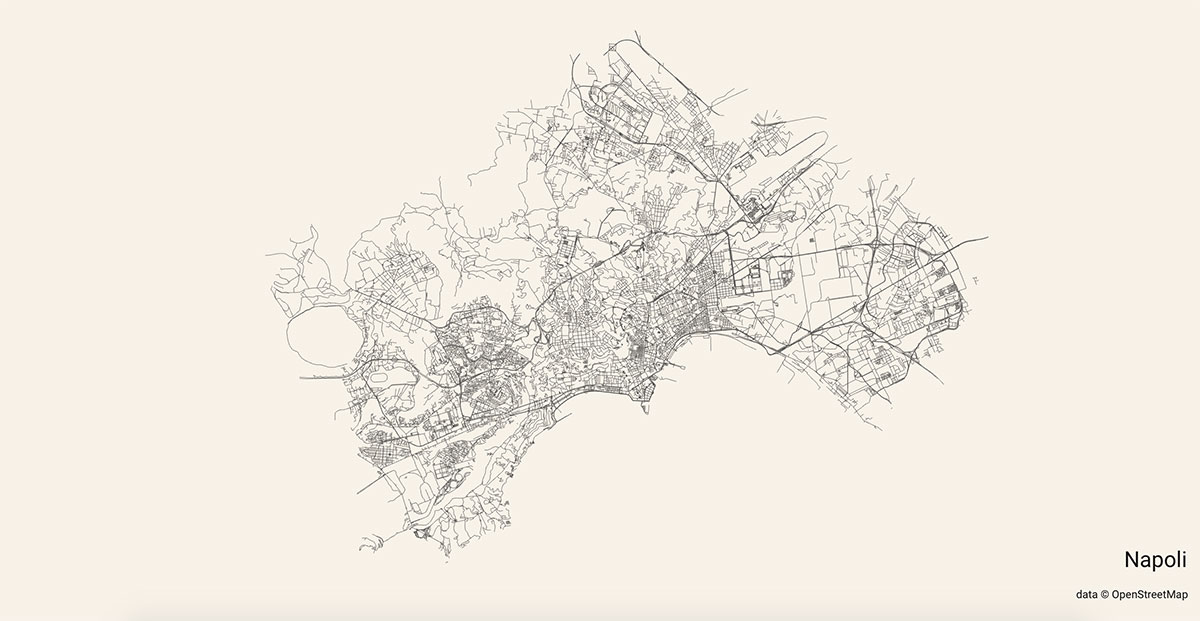 Le strade di Napoli mostrate su City Roads