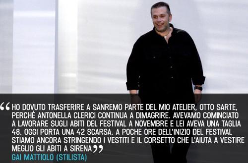 Gai Mattiolo afferma che Antonella Clerici avrebbe una taglia 42 scarsa