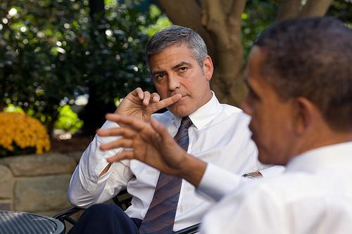 Barack Obama e George Clooney