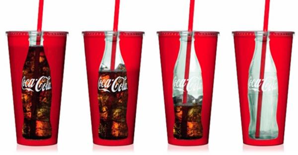 Bicchieri Coca-Cola trasparenti