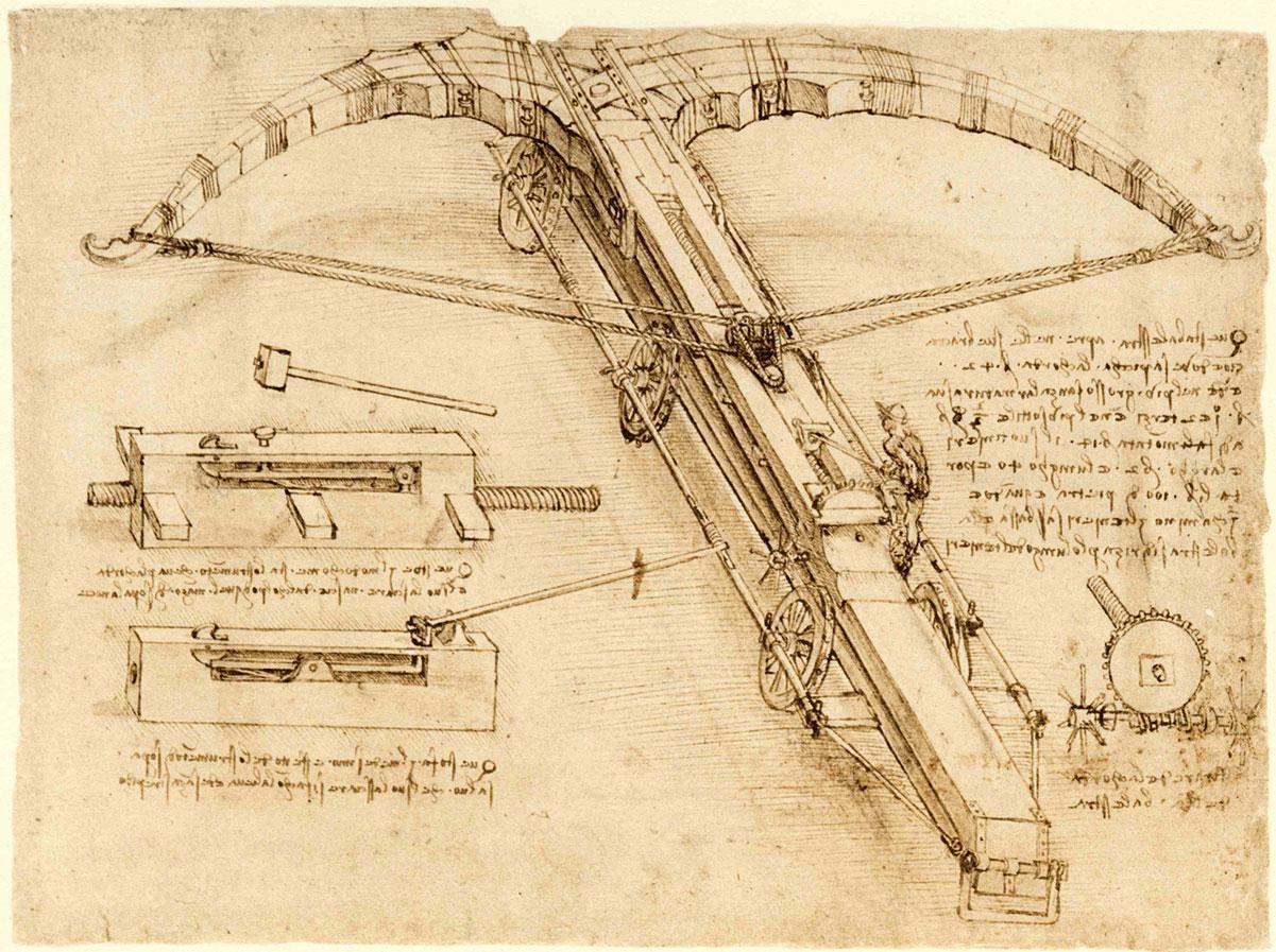 Pagina del Codex Atlanticus di Leonardo da Vinci
