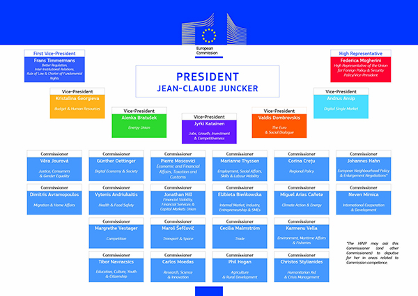 La commissione Juncker in infografica