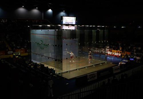 Lo squash ai Giochi del Commonwealth in India