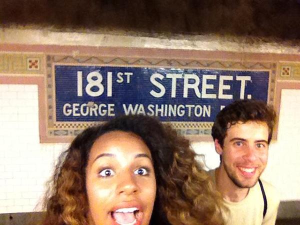 Gli autoscatti nella metro di New York di James e Kai