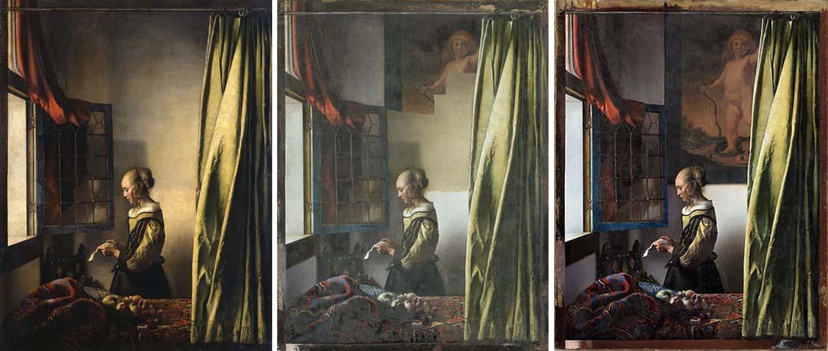 Donna che legge una lettera davanti alla finestra di Vermeer
