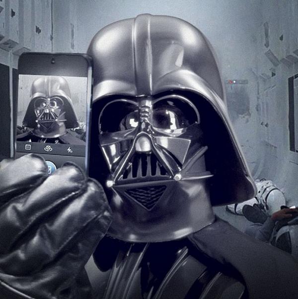 La selfie di Darth Vader
