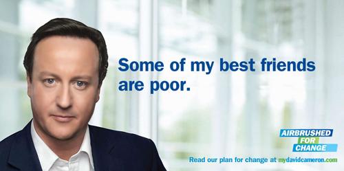 Il manifesto ritoccato di David Cameron
