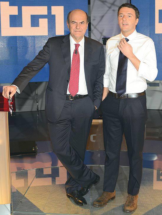 Bersani e Renzi al dibattito
