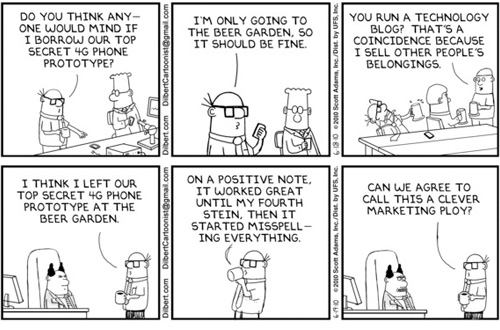 La striscia di Dilbert su iPhone 4G