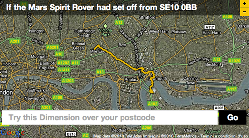 Se il Mars rover Spirit fosse andato a spasso per Londra