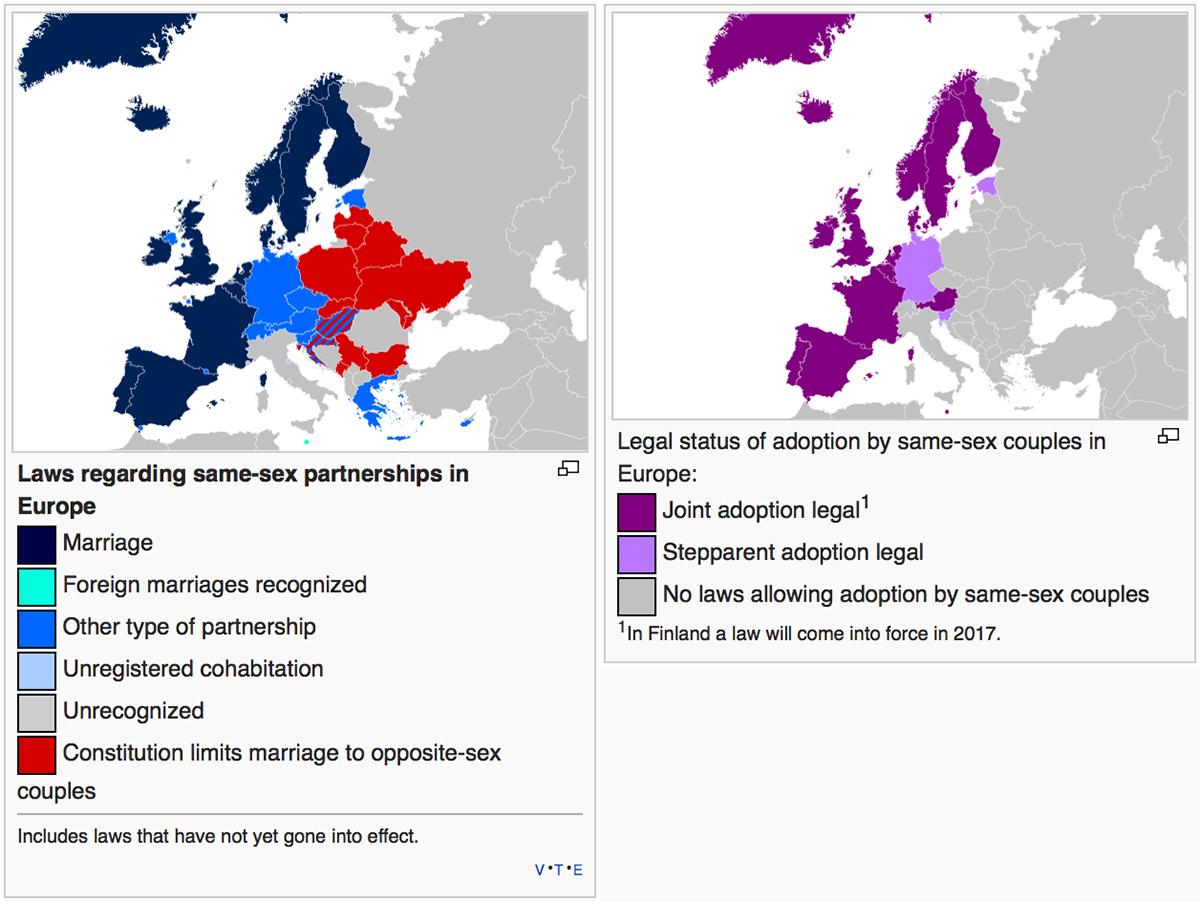 Diritti LGBT e adozioni da coppie LGBT in Europa