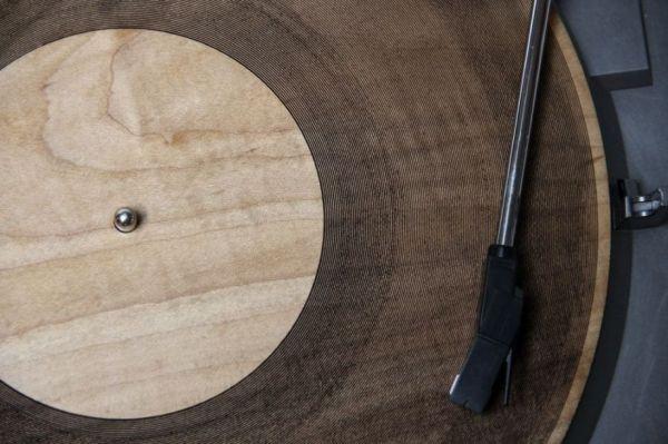 Un disco di legno
