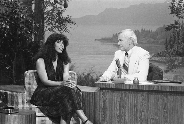 Donna Summer con Johnny Carson al The Tonight Show