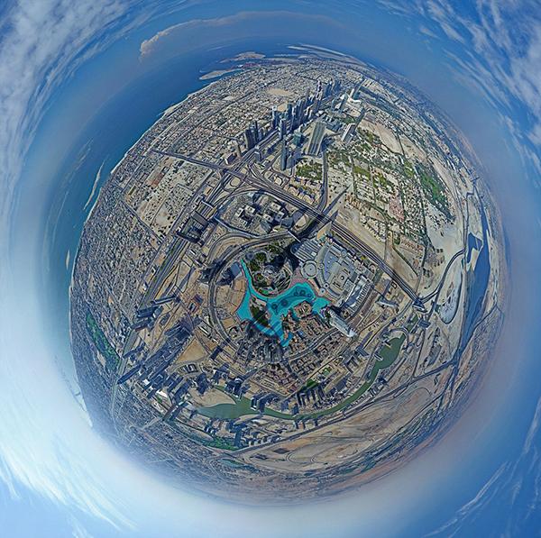 La vista a 360 gradi dal Burj Khalifa