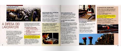 Una pagina del libretto propagandistico