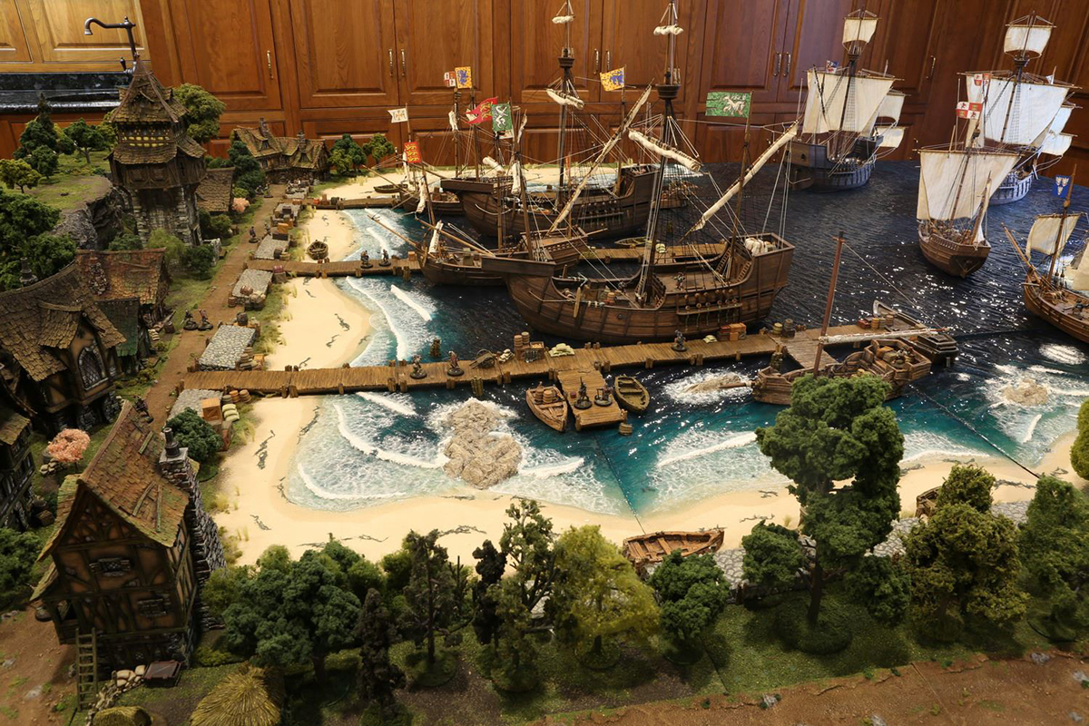 Un dettagliatissimo diorama di D&D
