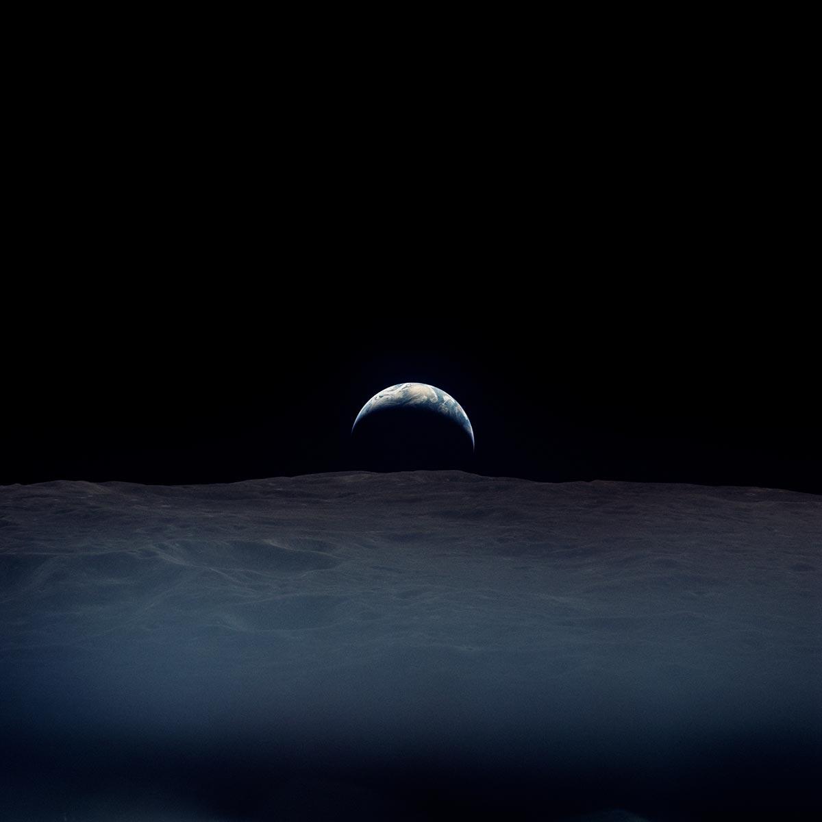 La Terra fotografata dall'astronauta Richard Gordon dell'Apollo 12